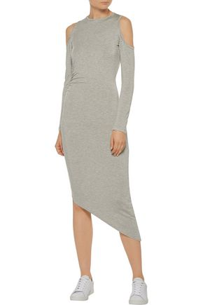 KAIN Michelle cold-shoulder striped stretch-jersey dress