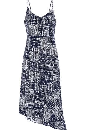 KAIN LABEL Nicola asymmetric printed voile dress