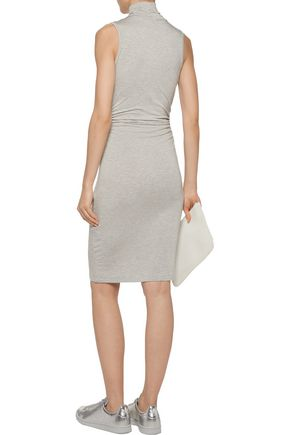 KAIN Ray ruched striped stretch-jersey turtleneck dress