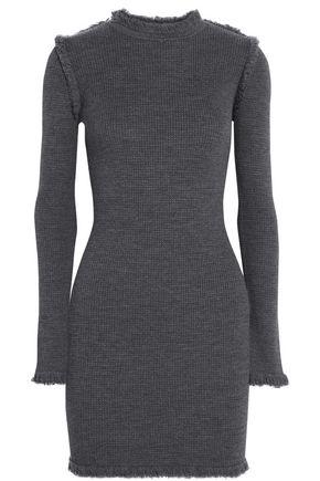 MICHAEL MICHAEL KORS Fringed merino wool mini dress