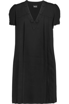 JUST CAVALLI Pleated crepe mini dress