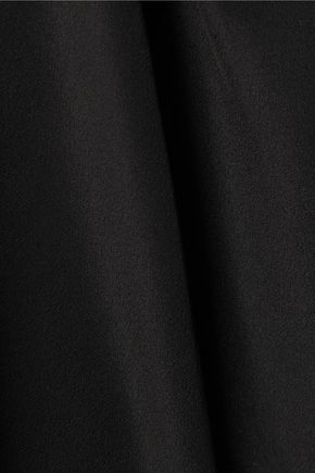JUST CAVALLI Twill-paneled washed-silk shirt dress