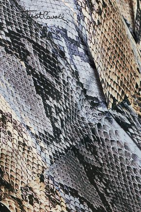 JUST CAVALLI Snake-print silk dress