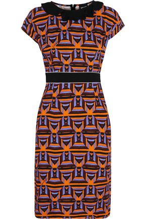 JUST CAVALLI Ruffled printed crepe dress