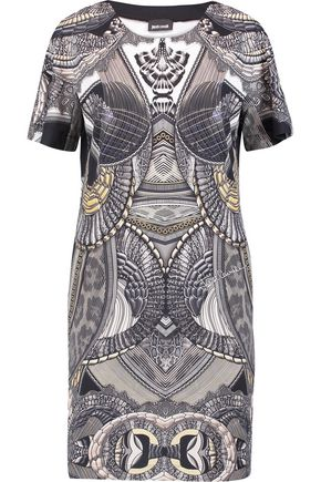 JUST CAVALLI Printed stretch-jersey mini dress