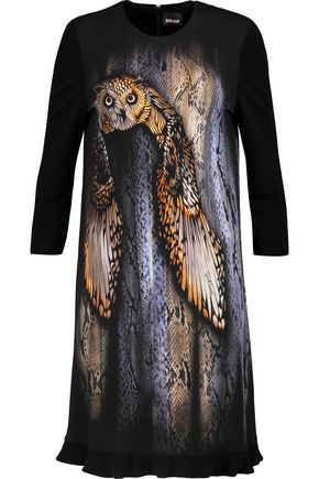 JUST CAVALLI Printed stretch-knit dress