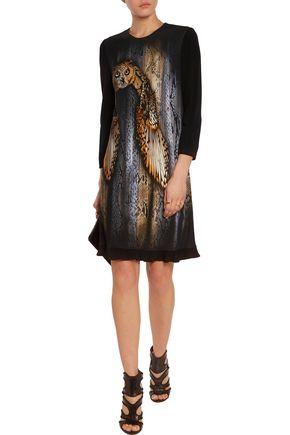 JUST CAVALLI Printed stretch-knit dress