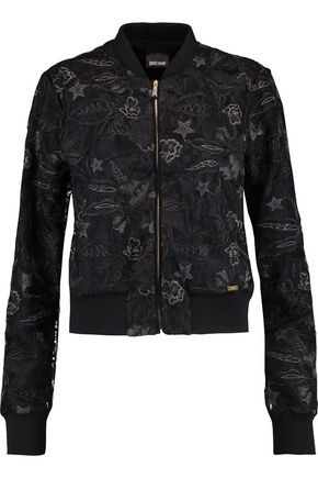 JUST CAVALLI Embroidered chiffon jacket