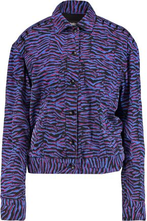 JUST CAVALLI Printed denim jacket
