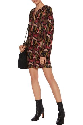 JUST CAVALLI Printed stretch-crepe mini dress