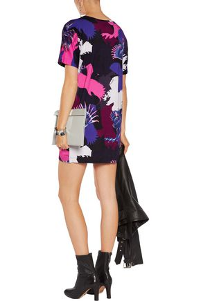 JUST CAVALLI Printed jersey mini dress