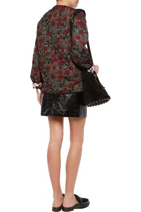 MOTHER OF PEARL Cryus printed quilted sateen coat