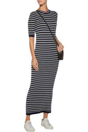 M.I.H JEANS Moonstone striped wool maxi dress