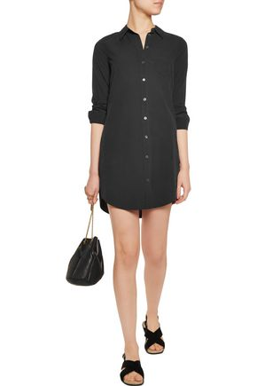 EQUIPMENT FEMME Brett washed-silk mini shirt dress