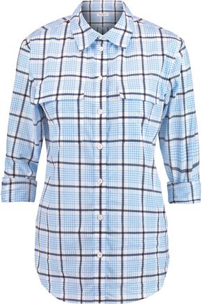 EQUIPMENT Signature checked cotton shirt