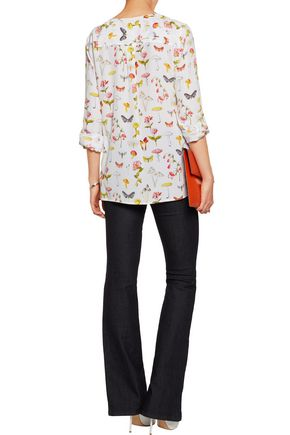 EQUIPMENT Hayes printed washed-silk blouse
