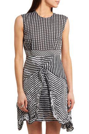 PREEN by THORNTON BREGAZZI Ellie ruffled silk-jacquard and devoré-chiffon mini dress