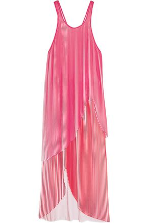 STELLA McCARTNEY Primrose plissé-georgette midi dress