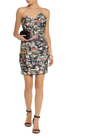 MOSCHINO Printed taffeta mini dress