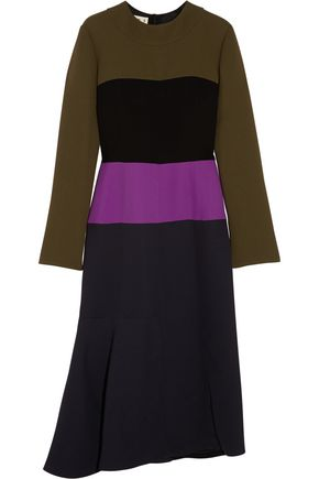 MARNI Color-block crepe dress