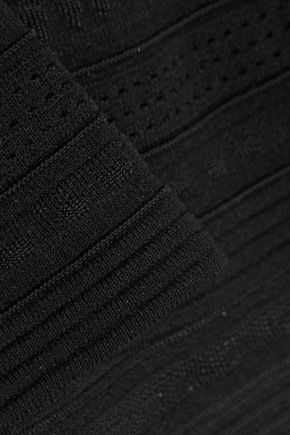 ROBERTO CAVALLI Backless crochet-knit mini dress