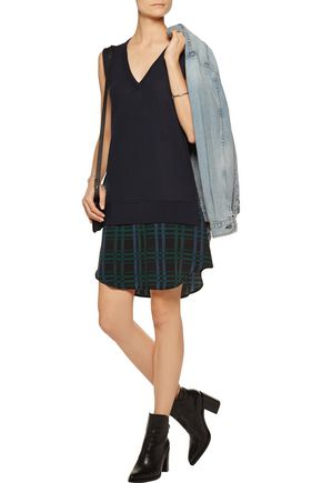 EQUIPMENT Portia layered wool and cashmere-blend dress