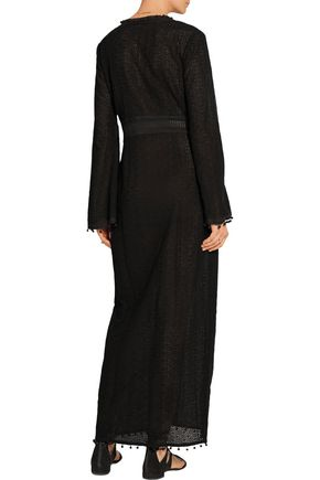 TALITHA Chiffon-trimmed French lace maxi dress