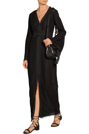 TALITHA Chiffon-trimmed French lace maxi dress
