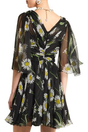 DOLCE & GABBANA Printed silk-chiffon mini dress