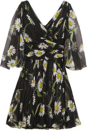 DOLCE & GABBANA Printed silk-chiffon mini dress