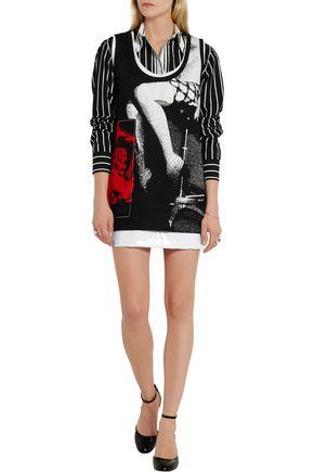 MIU MIU Printed cotton-twill mini dress