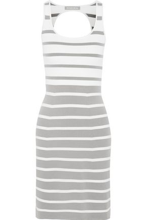RICHARD NICOLL Striped stretch-knit dress