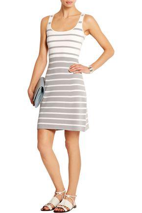 RICHARD NICOLL Striped stretch-knit dress