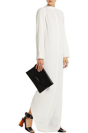 RICK OWENS Silk-blend marocain maxi dress