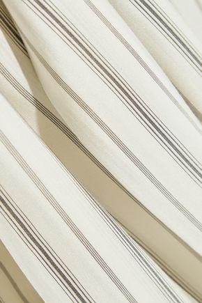 MAISON MARGIELA Pinstriped washed-silk habotai dress
