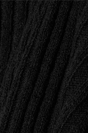JAMES PERSE Ribbed cotton-blend mini dress