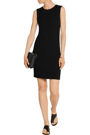 JAMES PERSE Ribbed cotton-blend mini dress