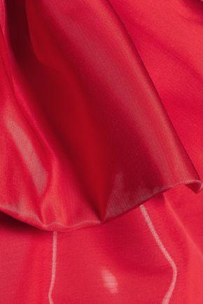 MOSCHINO Ruffled satin-crepe mini dress
