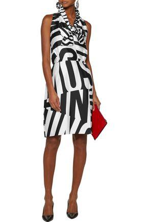 MOSCHINO Printed silk-blend twill dress