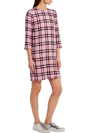 MSGM Open-weave cotton-tweed mini dress
