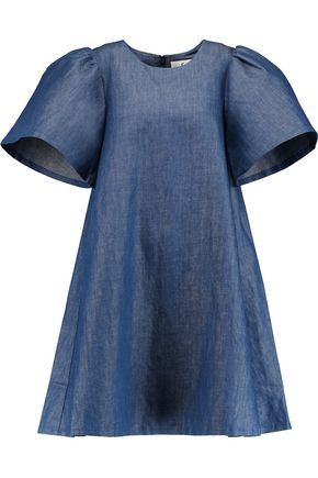 CO Cotton-blend chambray mini dress