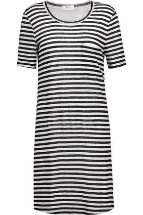 A.L.C. Dalio cutout striped linen mini dress