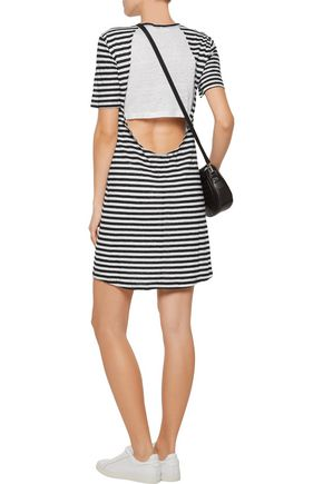 A.L.C. Dalio cutout striped linen mini dress