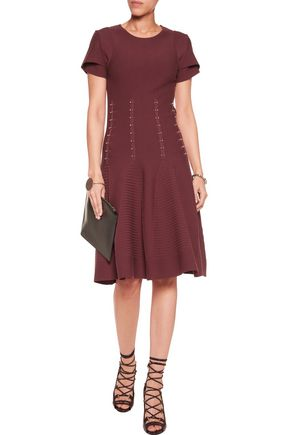 ANTONIO BERARDI Embellished stretch-knit dress