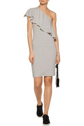 KAIN LABEL Hadley one-shoulder striped ribbed stretch-modal dress