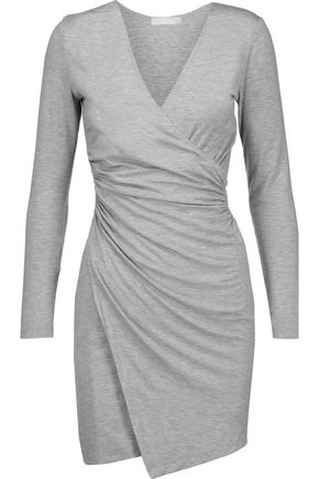 KAIN Nori wrap-effect stretch modal-blend mini dress