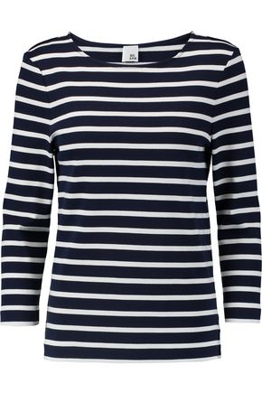 IRIS & INK Madeline Breton striped cotton top
