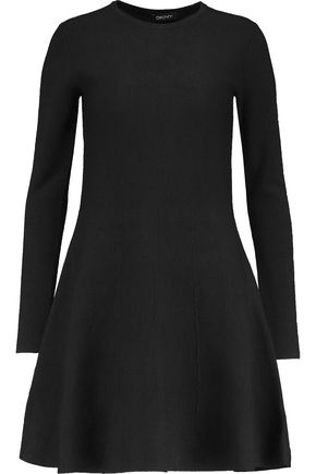 DKNY Flared silk-blend jacquard mini dress