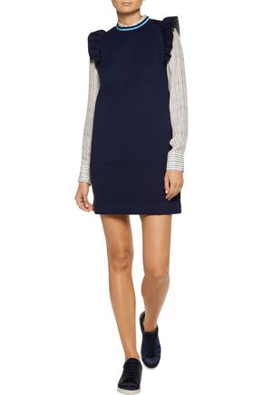 MOTHER OF PEARL Velma ruffled cotton and modal-blend jersey mini dress
