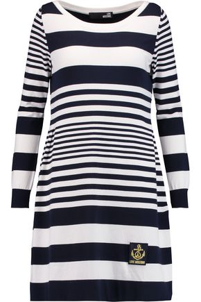 LOVE MOSCHINO Striped jersey dress